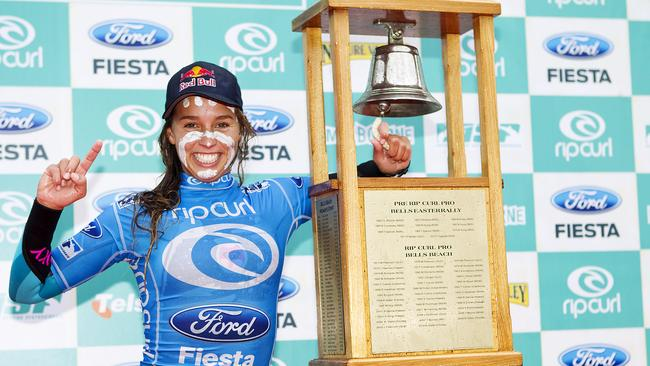 Sally Fitzgibbons was just 20 when she beat Carissa Moore to ring the bell back in 2011.