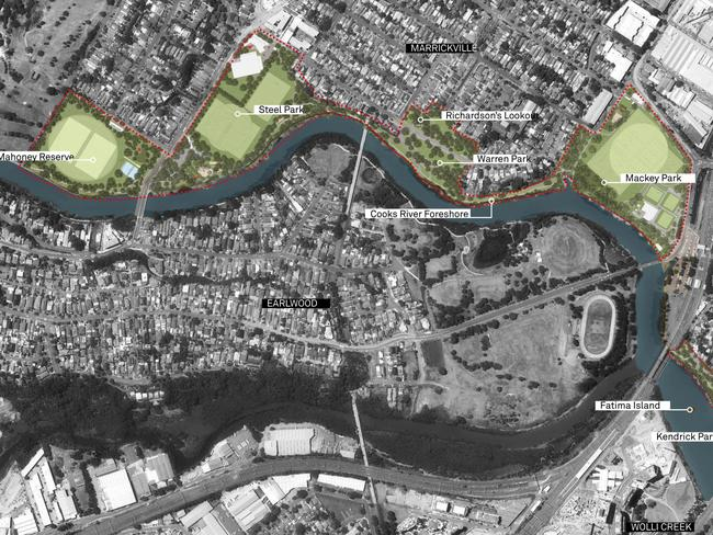 Marrickville council unveils new 15m cooks river masterplan news the parklands which come under the new cooks river masterplan picture marrickville council malvernweather Gallery