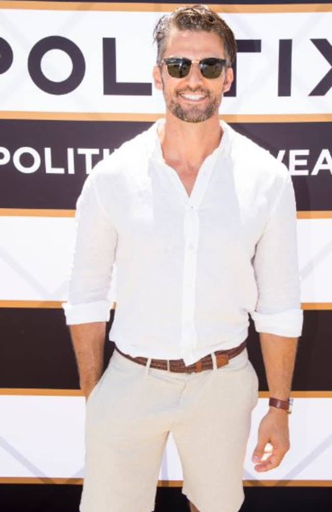 Tim Robards arrived solo as he enetered the Politix Marquee at Sydney's Polo in the City.