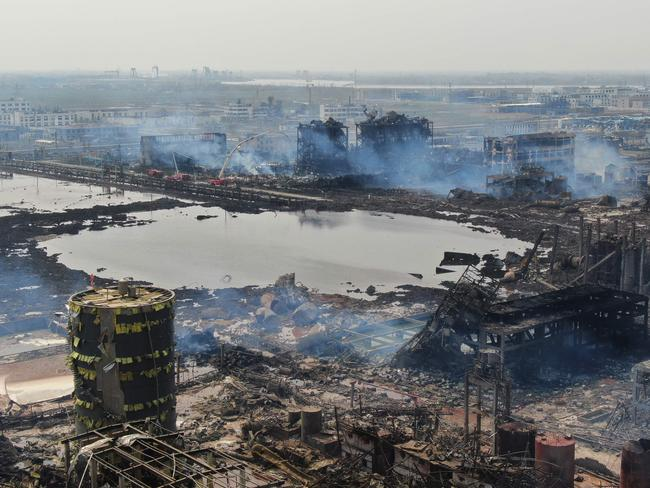 The blast has led to calls for tougher supervision of the production and storage of hazardous chemical substances. Picture: AFP