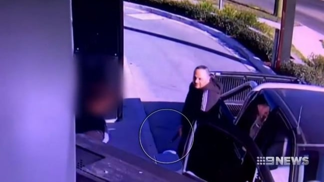 Mansour Mansour is accused of getting out of his car in possession of a 9mm pistol. Picture: 9 News