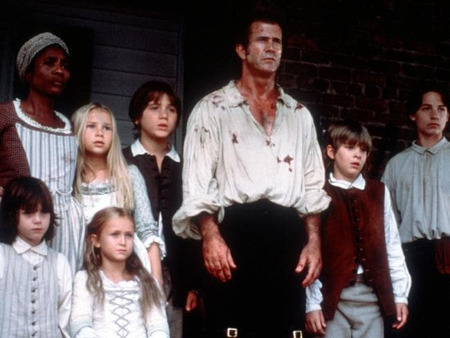 Skye McCole Bartusiak with Mel Gibson in The Patriot.