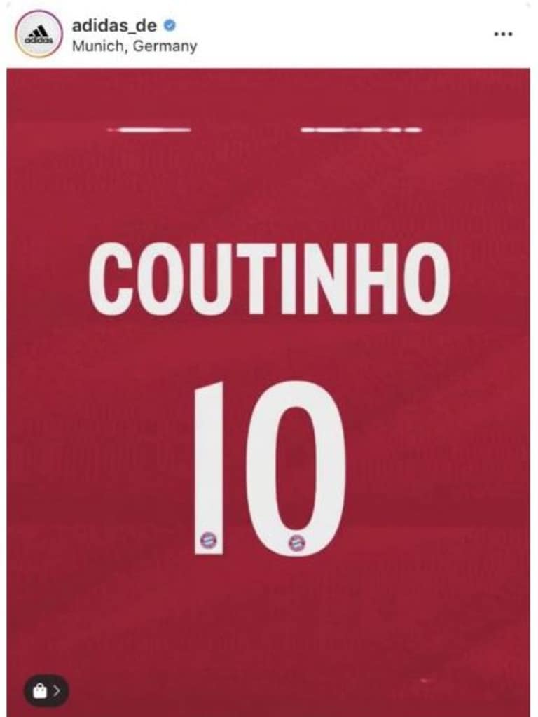 Philippe Coutinho looks as though he will wear the No.10 shirt.