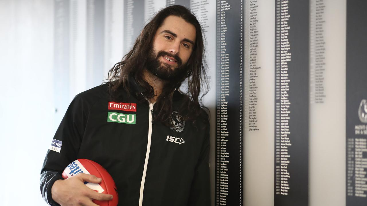 Collingwood's Brodie Grundy has signed a seven-year deal. Picture: Scott Barbour