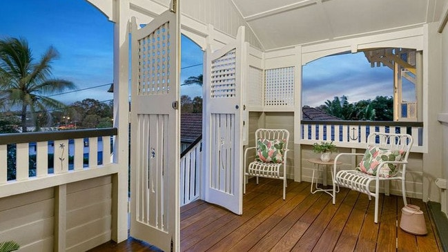 Inside the house at 12 Wolsey St, Sandgate. The suburb has a lot of older, character homes.