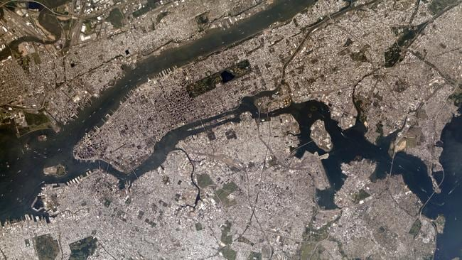 New York City, with Central Park in the middle. Photo: NASA