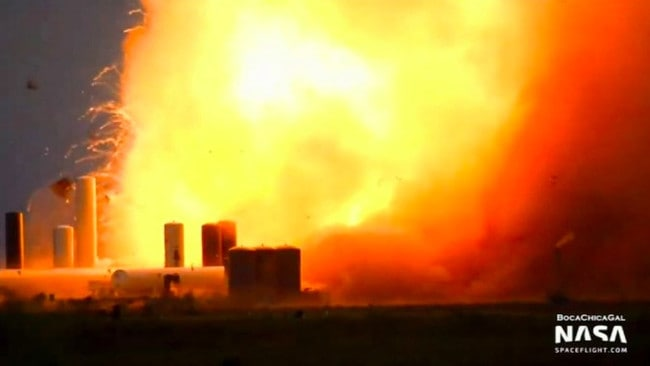Elon Musk: SpaceX prototype vehicle explodes during engine test – NEWS.com.au