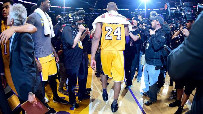 Kobe might be gone, but the Los Angeles Lakers are still laughing all the way to the bank. Picture: Getty Images/AFP