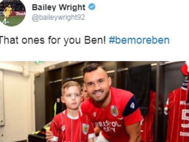 Bailey Wright pays tribute to Ben.