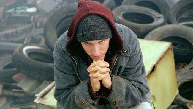 Eminem in a scene from 2002 film 8 Mile. Picture: Supplied.
