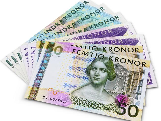 The Swedish krona ... soon to feature Greta Garbo, along with other famous women.