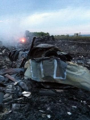 All that is left ... wreckage from MH17.