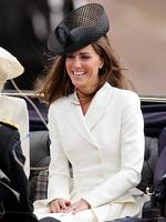 Catherine travels down The Mall in a horse drawn carriage as she attends the Trooping the Colour parade in June 2011 in London. Picture: Getty