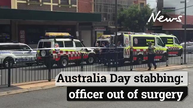 Australia Day stabbing: officer out of surgery