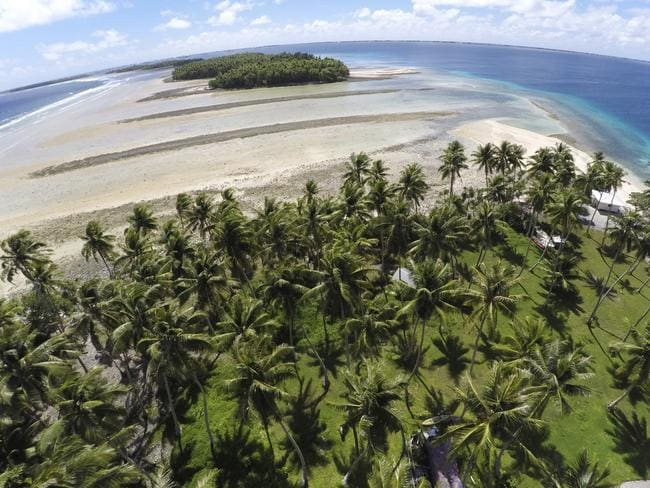Sea levels continue to rise around the Marshall Islands Picture: Rob Griffith/AP