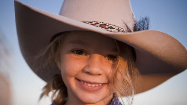Amy Everett modelled as 'Dolly' for Akubra hats when she was a little girl.