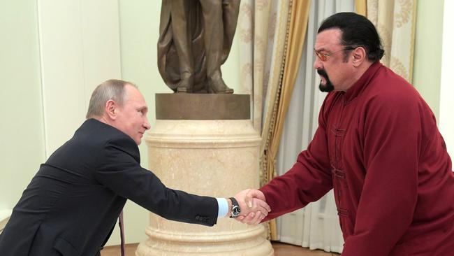 Seagal didn't get on well with O'Connell, but is good mates with Putin.