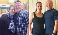 Couple shares staggering weight loss pictures