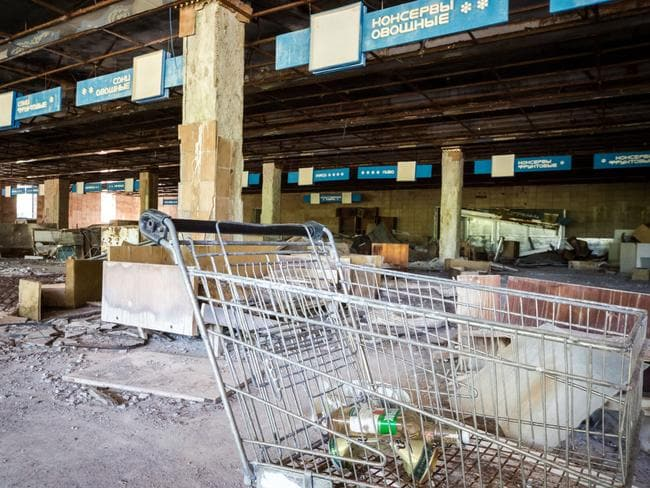 The skeletal remains of an old supermarket. Picture: Erwin Zwaan