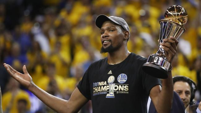 Golden State's NBA Finals MVP Kevin Durant.