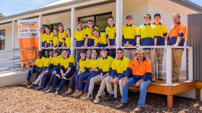 Doorways 2 Construction program participant. Supplied by South Australia Construction Industry Training Board.