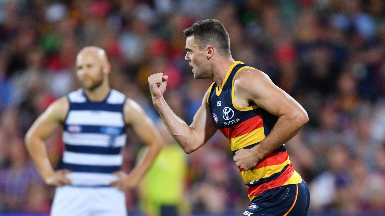 Could Brad Crouch be headed to Geelong? Photo: David Mariuz/AAP Image.