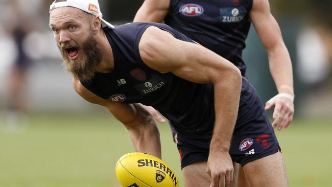 Max Gawn at Melbourne training.