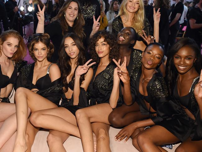 Models at this years Victoria's Secret's Fashion Show, which has suffered a steady decline in ratings. Picture: Dimitrios Kambouris.