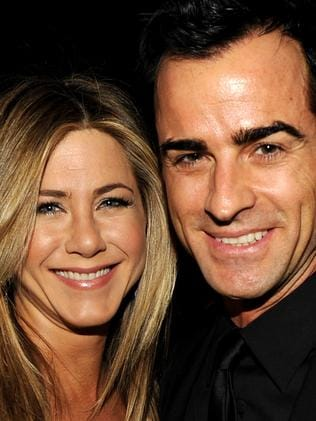 Jennifer Aniston and second husband Justin Theroux. Picture: Getty