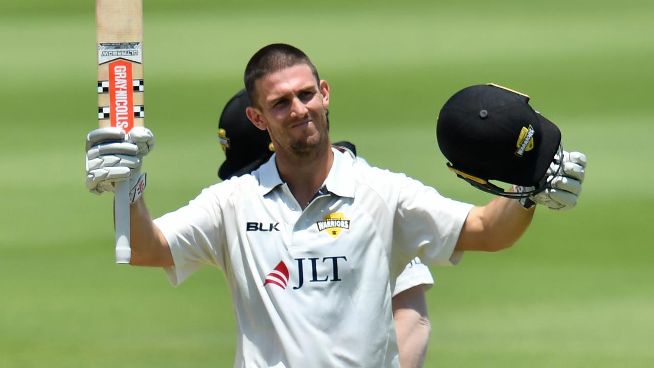 Mitchell Marsh raised his 10th first-class century.