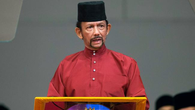 Sultan Hassanal Bolkiah called for 'stronger' Islamic teachings in the country. Picture: AFP