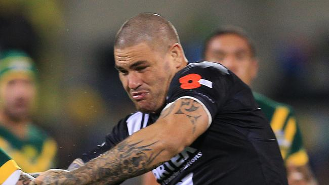 Russell Packer in action for the Kiwis. Picture: Mark Evans