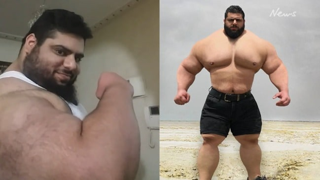 The Iranian Hulk: Sahan Gharibi shows of his biceps in Instagram video