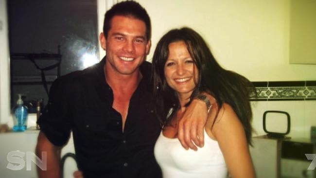 Ben Cousins and Maylea Tinecheff early in their relationship. Picture: Channel 7