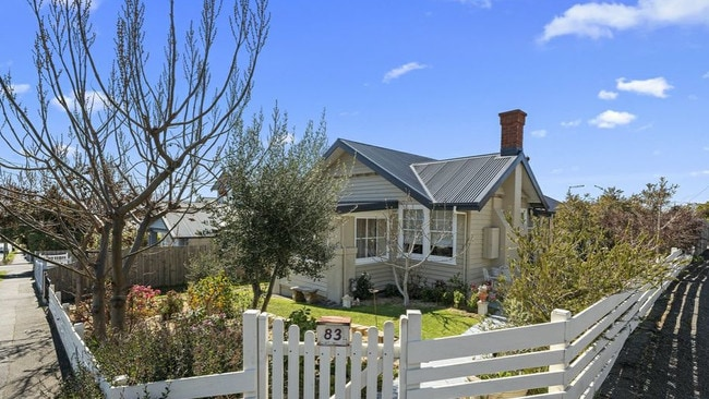 This cute and cosy cottage has the attention of would-be buyers in Tasmania this week. Picture: Supplied