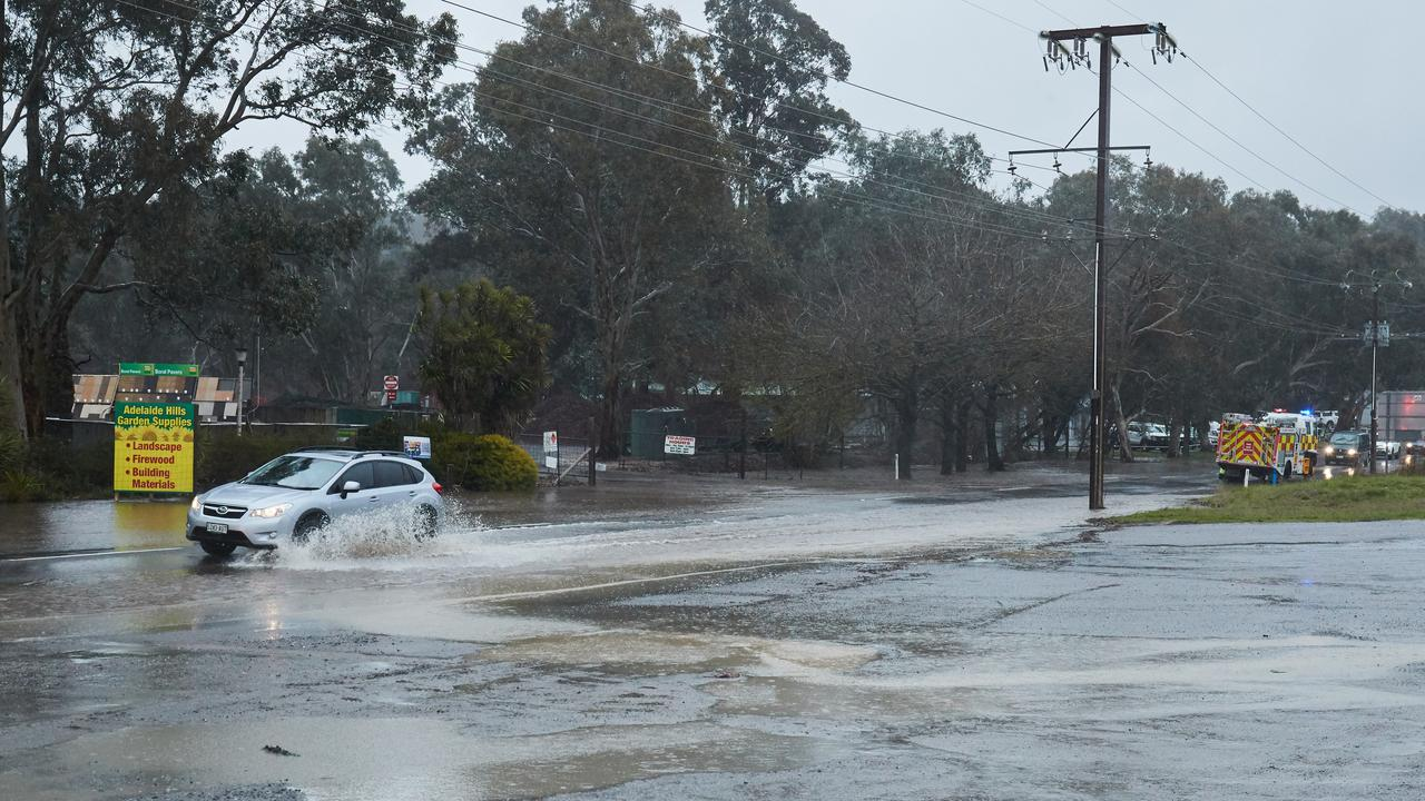Adelaide/SA wild weather: Woman rescued from Hills creek   Adelaide Now