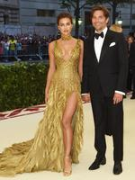 Irina Shayk and Bradley Cooper attend the Heavenly Bodies: Fashion and The Catholic Imagination Costume Institute Gala at The Metropolitan Museum of Art on May 7, 2018 in New York City. Picture: Getty Images