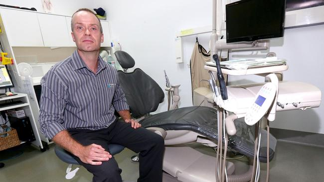 Alistair Henry one of the former owners or the Robina Town Dental. The business was defrauded of more than $700,000 by a former employee. Picture Mike Batterham