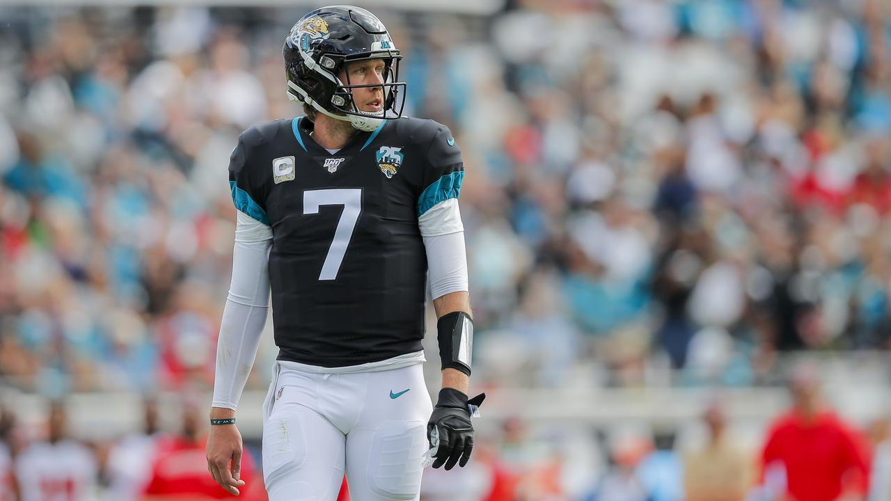 Jacksonville has benched high-priced free agent QB Nick Foles. (Photo by James Gilbert/Getty Images)