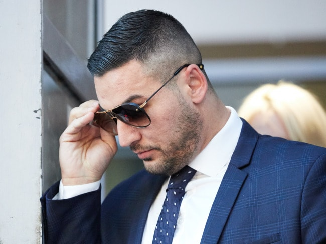 Salim Mehajer leaves the Burwood Local Court in Sydney after being found guilty of intimidating his estranged wife. Photo: AAP/Erik Anderson