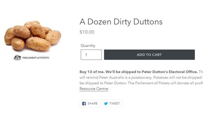 If you really want to make sure Dutton is well-fed, you can send a dozen potatoes.