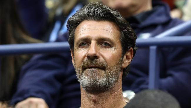 Williams's coach Patrick Mouratoglou watches the match. Picture: Getty Images