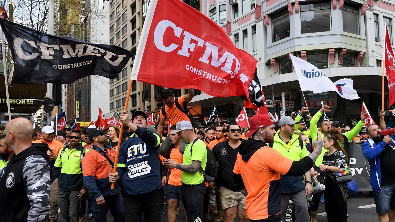 ABCC warns construction workers of union rally fines