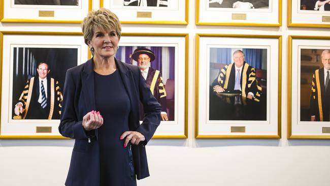 Former foreign minister and Australian National University Chancellor Julie Bishop.