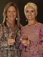 Sam Baker, of Ascot, and Rebecca Ryan, of Aspley, at the Y Women lunch for Youngcare. Picture: Just Photography