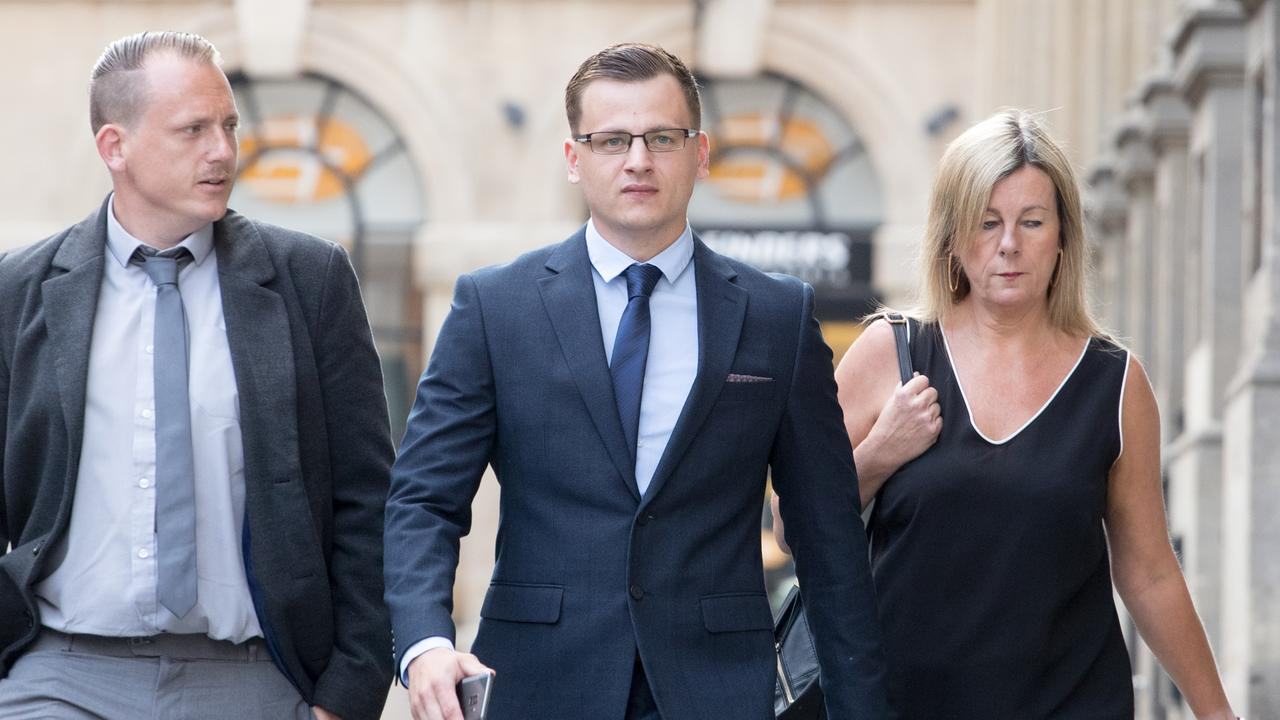 Ryan Hale (C) has been formally cleared of affray.
