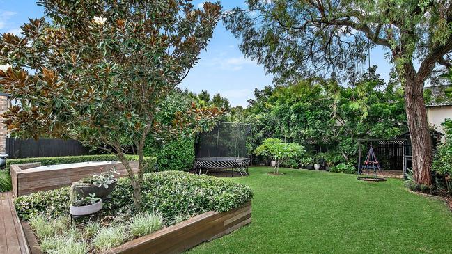 The picturesque garden area.
