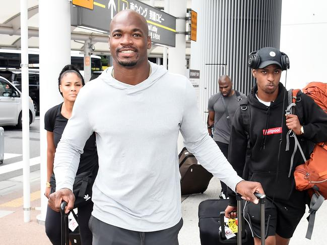 Adrian Peterson travelled to Japan last month. (Photo by Jun Sato/GC Images)