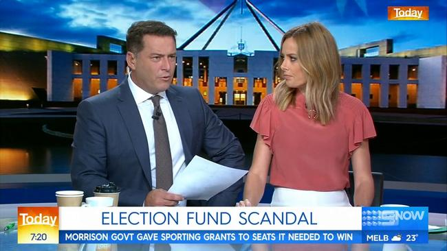 Karl Stefanovic grilled Home Affairs Minister Peter Dutton over the McKenzie scandal on the Today show this morning.