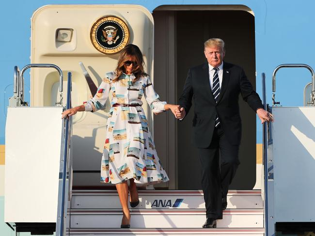 US President Donald Trump and First Lady Melania Trump are set to visit the UK. Picture: AP